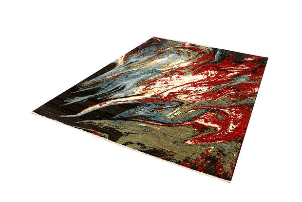 Multi Colored Abstract 5' 8 x 7' 10 - No. 66241 - ALRUG Rug Store