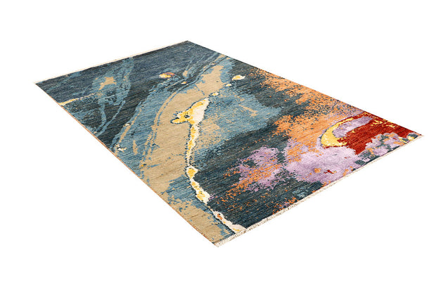 Multi Colored Abstract 4' 2 x 6' 4 - No. 66246 - ALRUG Rug Store
