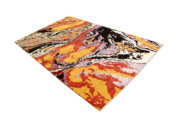 Multi Colored Abstract 5' 2 x 8' 3 - No. 66257 - ALRUG Rug Store