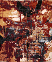 Multi Colored Abstract 7' 11 x 9' 7 - No. 66262 - ALRUG Rug Store