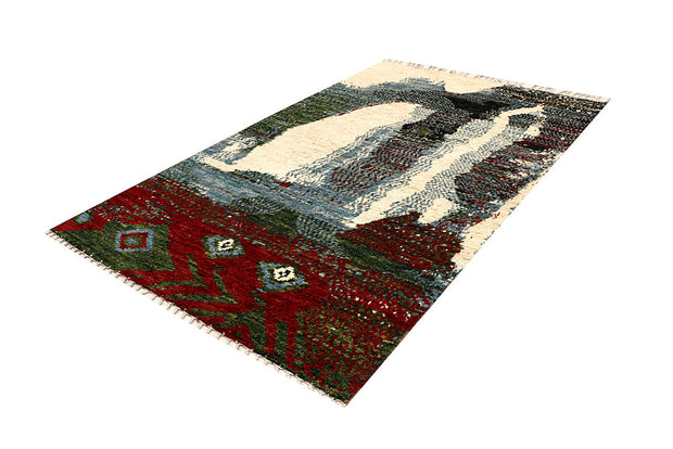 Multi Colored Abstract 5' 3 x 8' 3 - No. 66273 - ALRUG Rug Store
