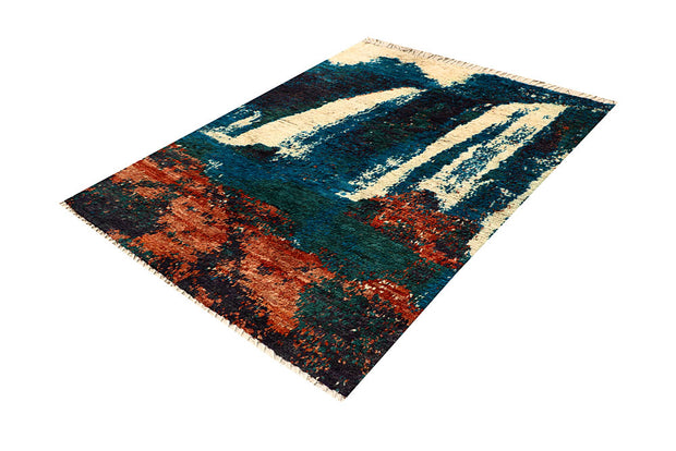 Multi Colored Abstract 5' x 6' 6 - No. 66294 - ALRUG Rug Store