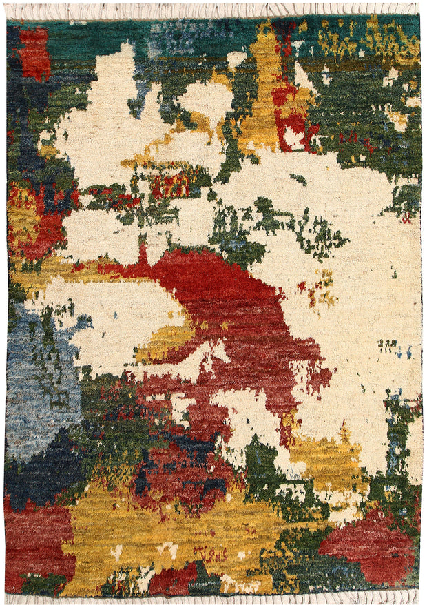 Multi Colored Abstract 6' 8 x 9' 5 - No. 66317 - ALRUG Rug Store