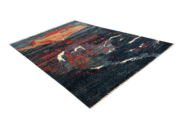 Multi Colored Abstract 6' 4 x 9' 7 - No. 66319 - ALRUG Rug Store