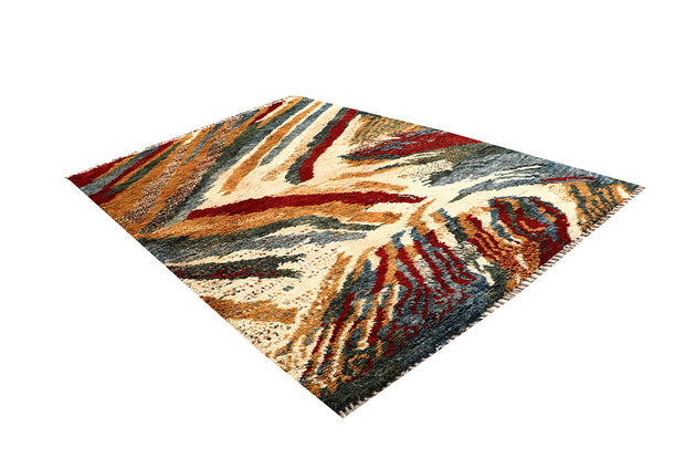 Multi Colored Abstract 6' 9 x 9' 6 - No. 66323 - ALRUG Rug Store