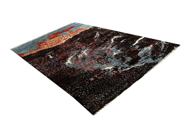 Multi Colored Abstract 6' 7 x 9' 9 - No. 66325 - ALRUG Rug Store