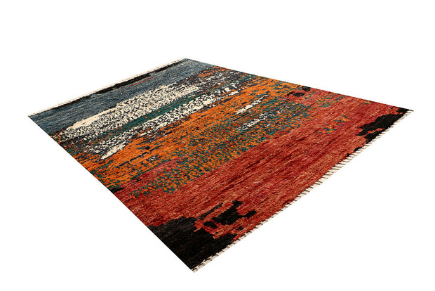 Multi Colored Abstract 6' 10 x 9' 5 - No. 66328 - ALRUG Rug Store