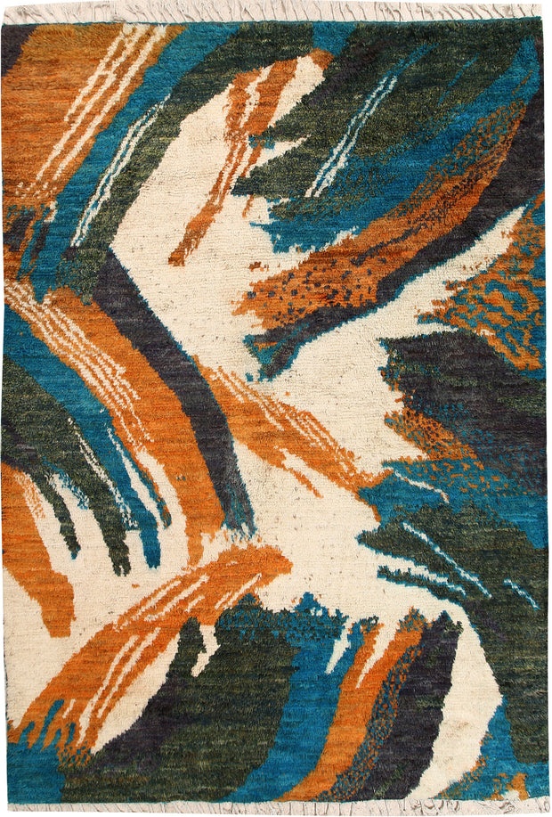 Multi Colored Abstract 6' 9 x 9' 7 - No. 66340 - ALRUG Rug Store