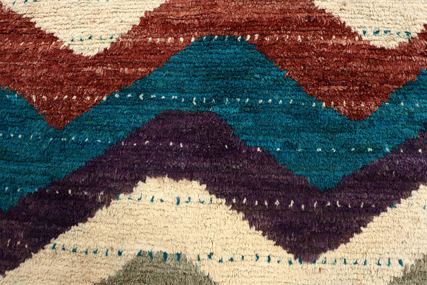 Multi Colored Abstract 6' 9 x 9' 5 - No. 66356 - ALRUG Rug Store
