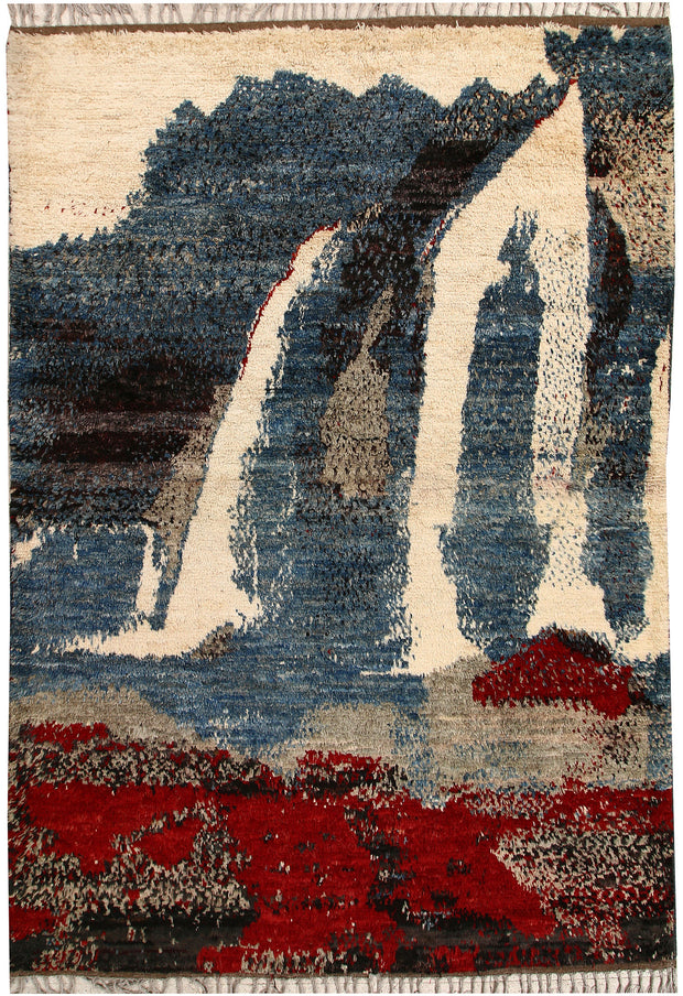 Multi Colored Abstract 6' 10 x 9' 10 - No. 66357 - ALRUG Rug Store