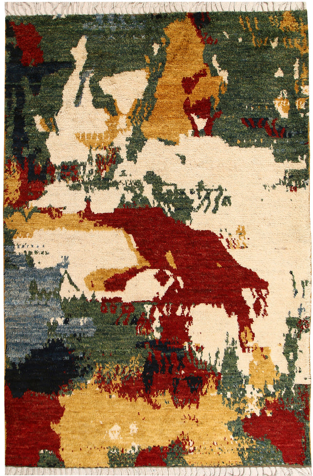 Multi Colored Abstract 6' 7 x 9' 8 - No. 66362 - ALRUG Rug Store