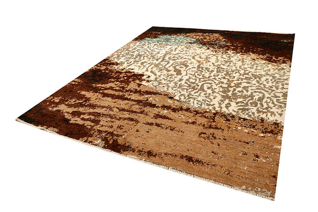 Multi Colored Abstract 8' x 9' 11 - No. 66413 - ALRUG Rug Store