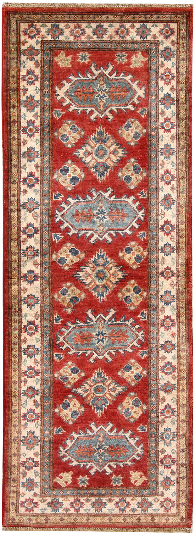 Orange Red Kazak 2' x 5' 8 - No. 66574 - ALRUG Rug Store