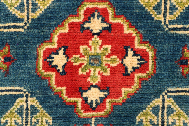 Medium Blue Kazak 2' 1 x 6' 5 - No. 66581 - ALRUG Rug Store