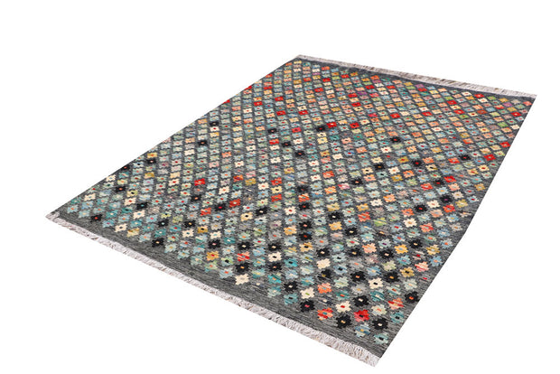 Multi Colored Kilim 5' 2 x 6' 6 - No. 66609 - ALRUG Rug Store