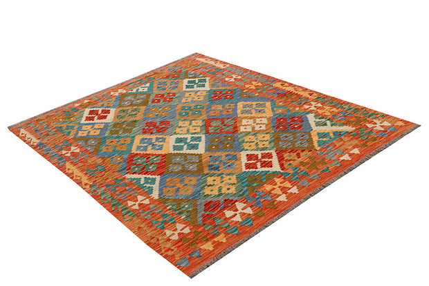 Multi Colored Kilim 5' 1 x 6' 4 - No. 66614 - ALRUG Rug Store