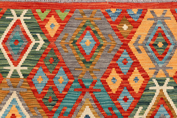 Multi Colored Kilim 5' 1 x 6' 5 - No. 66620 - ALRUG Rug Store