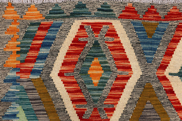 Multi Colored Kilim 4' 10 x 6' 5 - No. 66631 - ALRUG Rug Store
