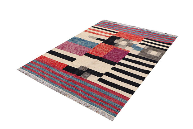 Multi Colored Kilim 4' 10 x 6' 5 - No. 66703 - ALRUG Rug Store