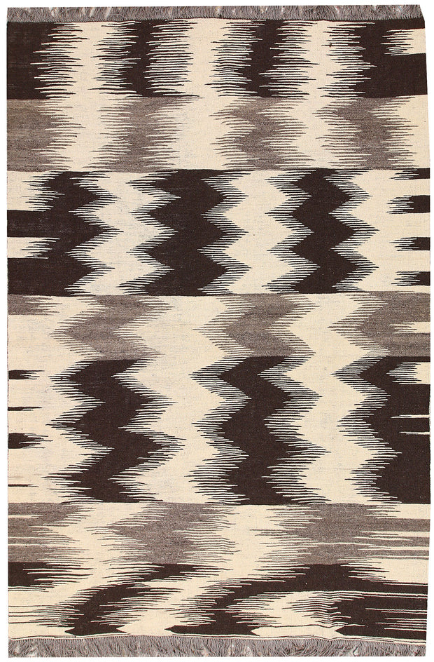Multi Colored Kilim 5' 11 x 8' 9 - No. 66711 - ALRUG Rug Store