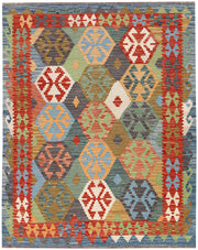 Multi Colored Kilim 5' 1 x 6' 5 - No. 66721 - ALRUG Rug Store
