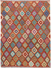 Multi Colored Kilim 4' 11 x 6' 5 - No. 66760 - ALRUG Rug Store