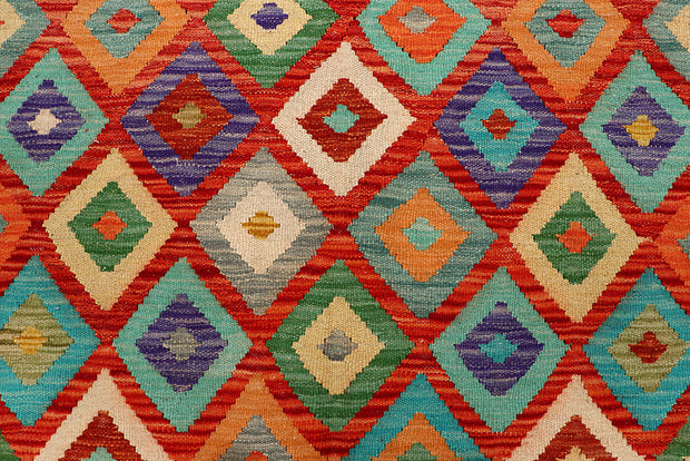 Multi Colored Kilim 4' 9 x 6' 4 - No. 66766 - ALRUG Rug Store