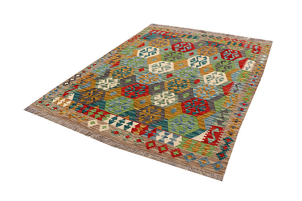 Multi Colored Kilim 5' x 6' 6 - No. 66771 - ALRUG Rug Store