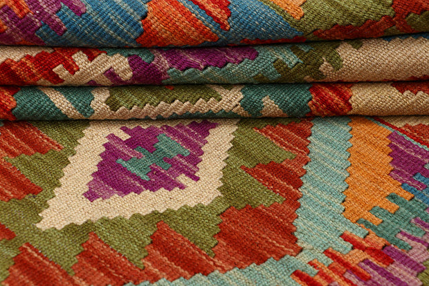 Multi Colored Kilim 4' 11 x 6' 5 - No. 66775 - ALRUG Rug Store