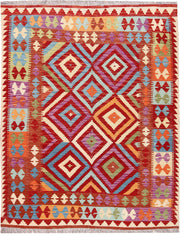 Multi Colored Kilim 5' 2 x 6' 6 - No. 66790 - ALRUG Rug Store