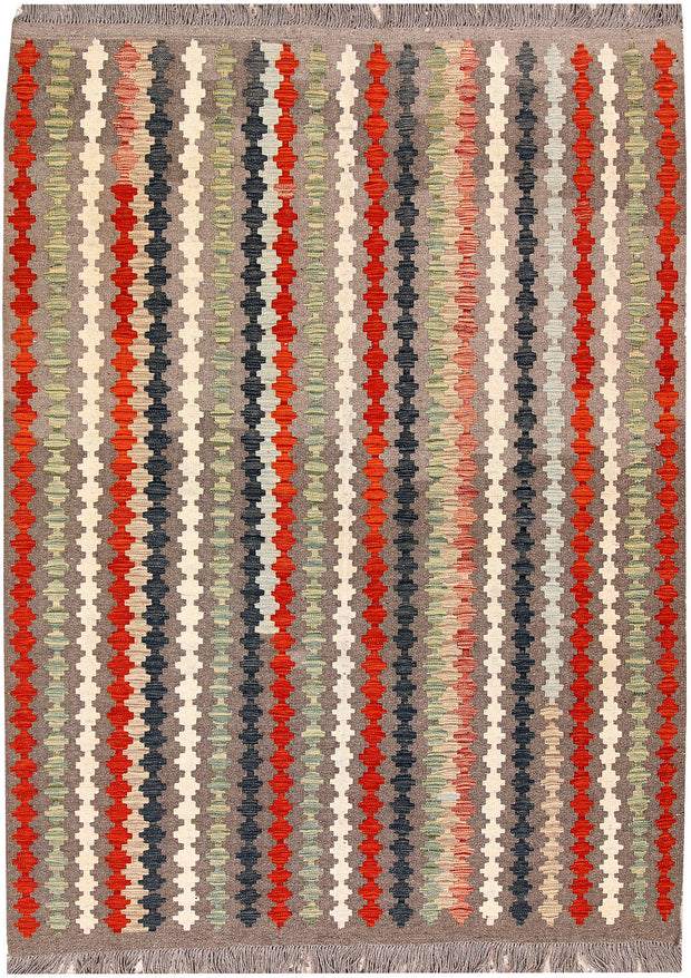 Multi Colored Kilim 5' 1 x 6' 9 - No. 66818 - ALRUG Rug Store