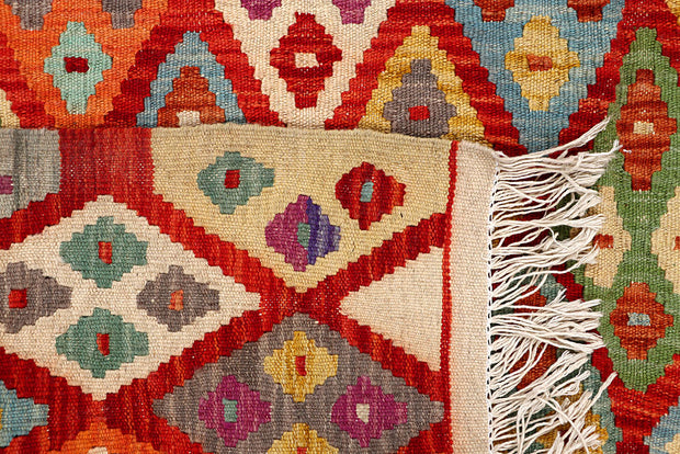 Multi Colored Kilim 5' 5 x 6' 4 - No. 66824 - ALRUG Rug Store