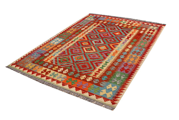Multi Colored Kilim 4' 11 x 6' 8 - No. 66825 - ALRUG Rug Store