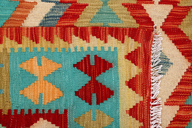 Multi Colored Kilim 5' 8 x 7' 10 - No. 66843 - ALRUG Rug Store