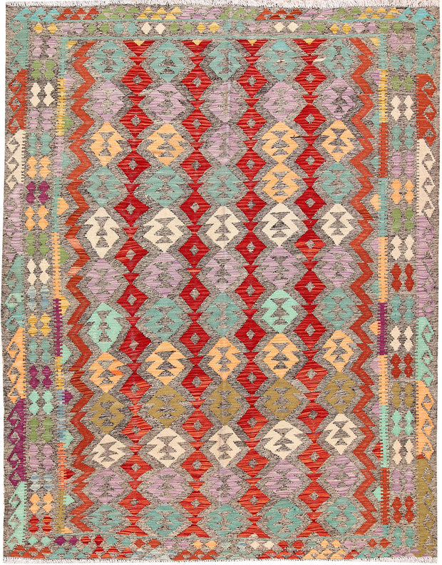 Multi Colored Kilim 5' 10 x 8' 1 - No. 66844 - ALRUG Rug Store