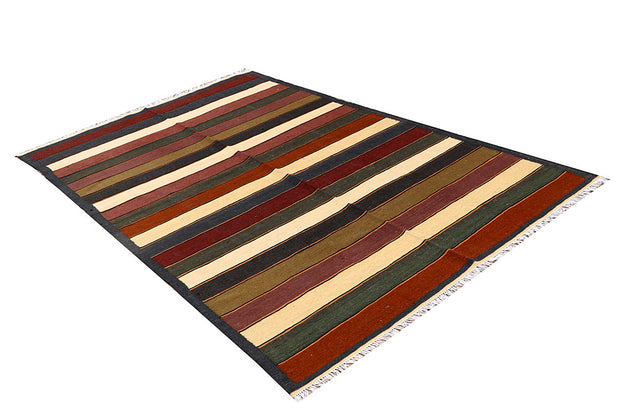 Multi Colored Kilim 4' 11 x 8' 1 - No. 66851 - ALRUG Rug Store