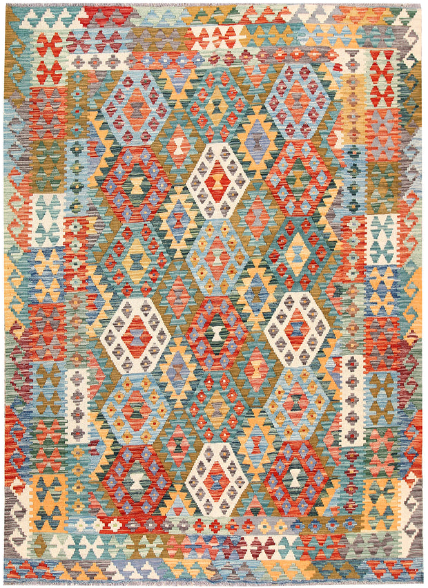 Multi Colored Kilim 5' 9 x 8' 1 - No. 66876 - ALRUG Rug Store