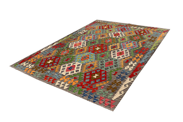 Multi Colored Kilim 5' 7 x 8' 3 - No. 66877 - ALRUG Rug Store