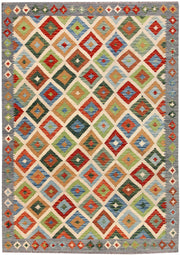 Multi Colored Kilim 5' 6 x 7' 9 - No. 66883 - ALRUG Rug Store