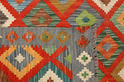 Multi Colored Kilim 5' 8 x 7' 9 - No. 66892 - ALRUG Rug Store