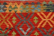 Multi Colored Kilim 5' 8 x 7' 8 - No. 66896 - ALRUG Rug Store