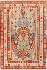 Multi Colored Kilim 6' 7 x 9' 8 - No. 66902 - ALRUG Rug Store