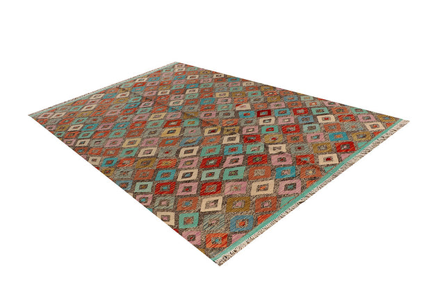 Multi Colored Kilim 6' 5 x 9' 7 - No. 66910 - ALRUG Rug Store