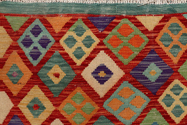 Multi Colored Kilim 6' 8 x 9' 4 - No. 66911 - ALRUG Rug Store