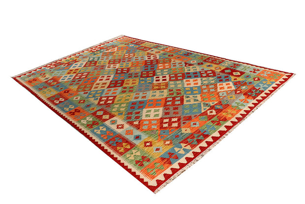 Multi Colored Kilim 6' 8 x 9' 8 - No. 66912 - ALRUG Rug Store