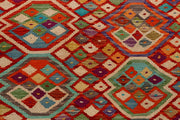 Multi Colored Kilim 6' 7 x 9' 10 - No. 66920 - ALRUG Rug Store