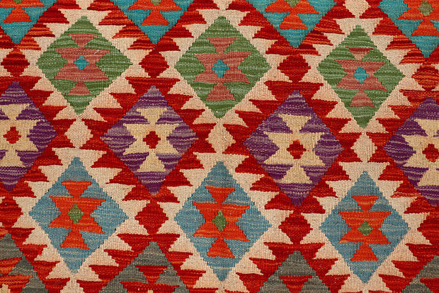 Multi Colored Kilim 6' 8 x 9' 11 - No. 66926 - ALRUG Rug Store