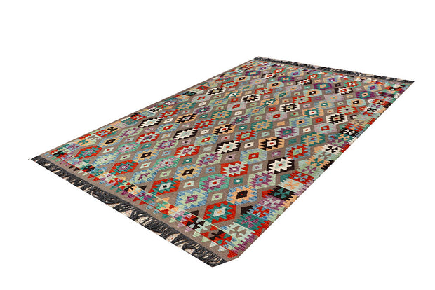 Multi Colored Kilim 6' 5 x 9' 8 - No. 66934 - ALRUG Rug Store