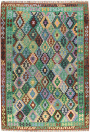 Multi Colored Kilim 6' 9 x 9' 6 - No. 66940 - ALRUG Rug Store