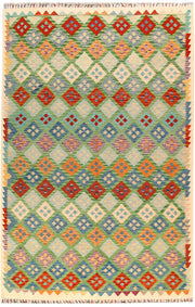 Multi Colored Kilim 6' 8 x 9' 9 - No. 66941 - ALRUG Rug Store